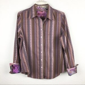 Robert Graham French cuff multi color button up